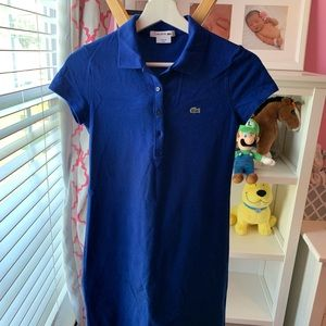 Lacoste blue shift dress
